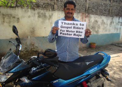 GR-Hämeenlinna keräsi varat Intian pastorin moottoripyörään.