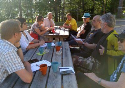 Suunnittelupalaveri Siikaniemessä 2018-05-29